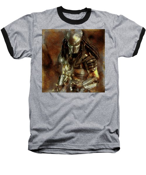 The Predator Scroll Baseball T-Shirt by Mario Carini