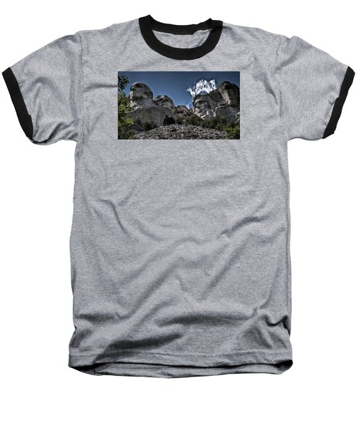 Baseball T-Shirt featuring the photograph The Presidents Of Mount Rushmore by Deborah Klubertanz