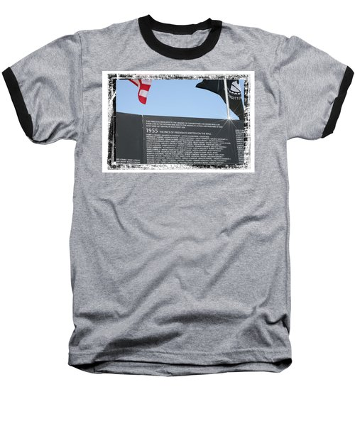 Baseball T-Shirt featuring the digital art The Price Of Freedom by Gary Baird