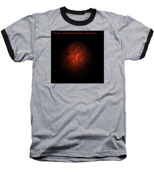 The Prince Of Peace Baseball T-Shirt by Latha Gokuldas Panicker