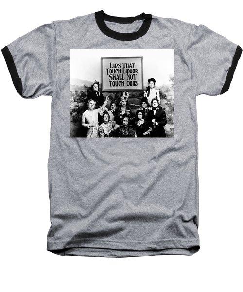 The Prohibition Temperance League 1920 Baseball T-Shirt by Daniel Hagerman