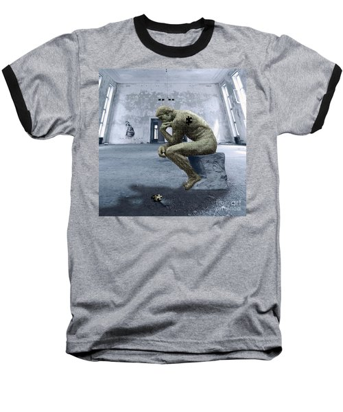 Baseball T-Shirt featuring the photograph Puzzled by Juli Scalzi