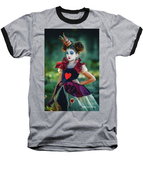 The Queen Of Hearts Alice In Wonderland Baseball T-Shirt