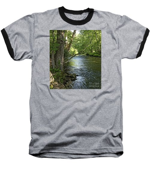 The Quiet Waters Flow Baseball T-Shirt