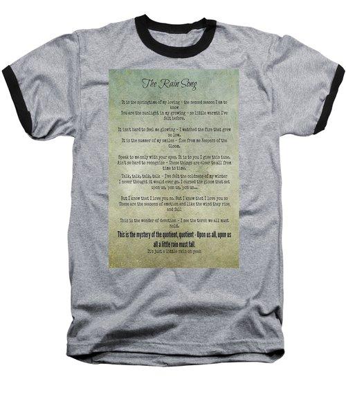 The Rain Song-led Zeppelin Baseball T-Shirt