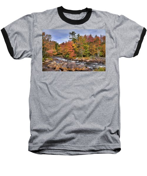 Baseball T-Shirt featuring the photograph The Rapids On The Moose River by David Patterson