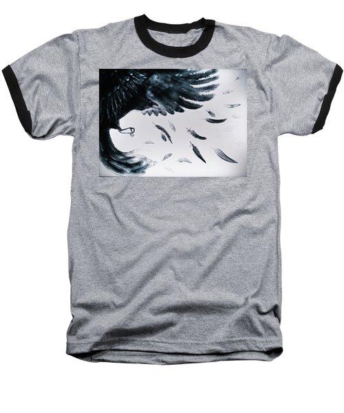 The Raven Baseball T-Shirt by Elena Vedernikova