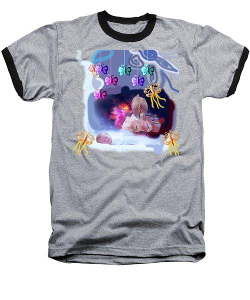 The Real Little Baby Dream Baseball T-Shirt by Artist Nandika  Dutt
