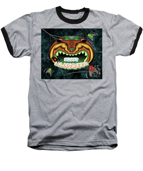 The Really Scared Pumpkin Melon Baseball T-Shirt