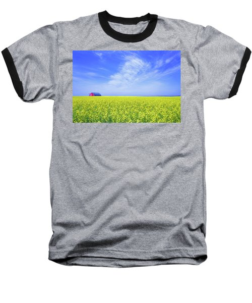 Baseball T-Shirt featuring the photograph The Red Barn by Keith Armstrong