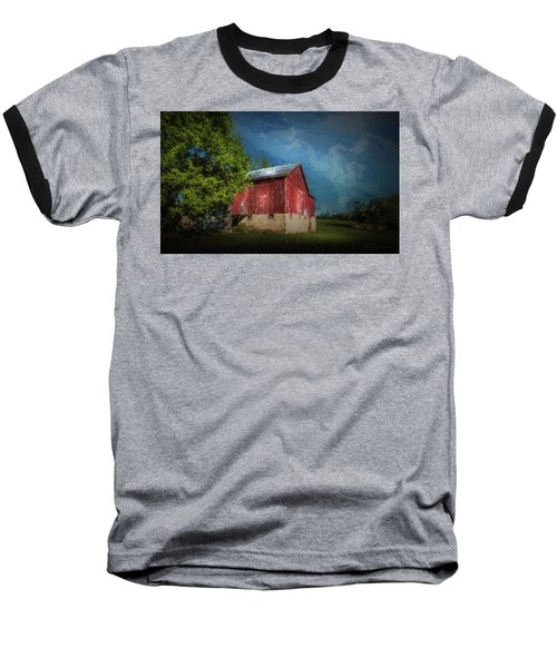 Baseball T-Shirt featuring the photograph The Red Barn by Marvin Spates
