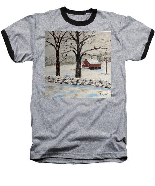 The Red Barn Baseball T-Shirt by Stanton Allaben