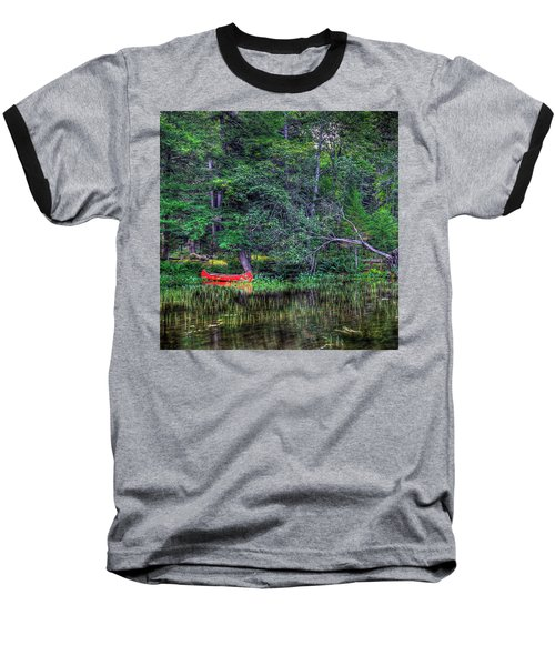 The Red Canoe Baseball T-Shirt by David Patterson