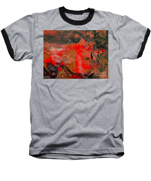 Baseball T-Shirt featuring the painting The Red Garden by Nancy Kane Chapman