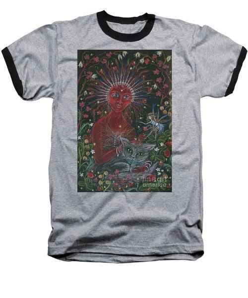 The Red Queen Baseball T-Shirt by Dawn Fairies