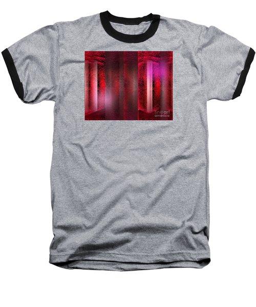 The Red Room Baseball T-Shirt by John Krakora