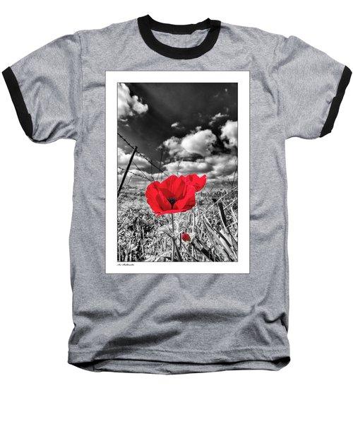 The Red Spot Baseball T-Shirt by Arik Baltinester