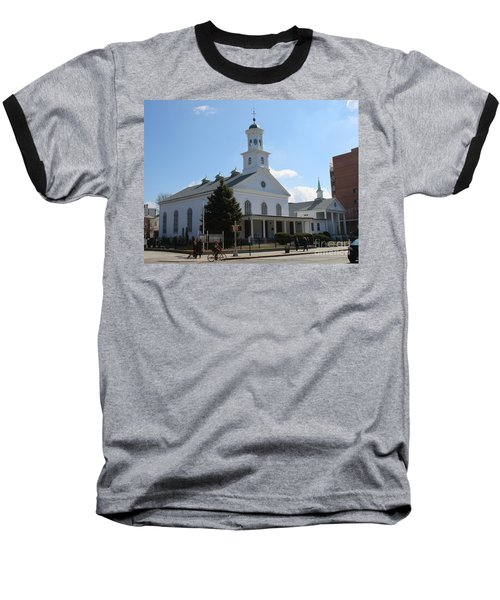 The Reformed Church Of Newtown- Baseball T-Shirt