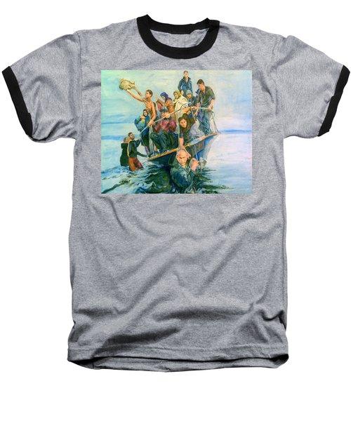 The Refugees Seek The Shore Baseball T-Shirt