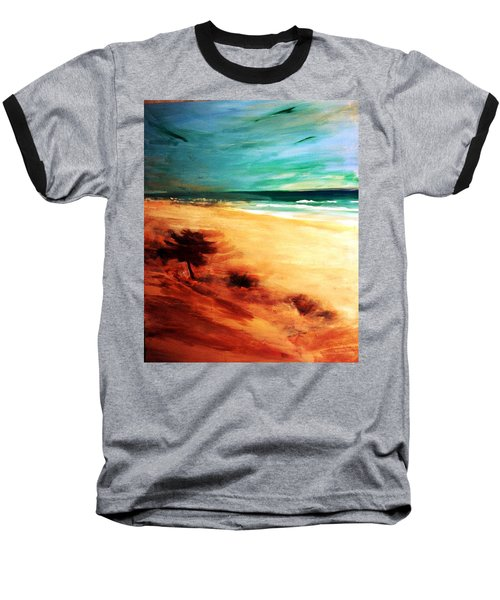 Baseball T-Shirt featuring the painting The Remaining Pine by Winsome Gunning