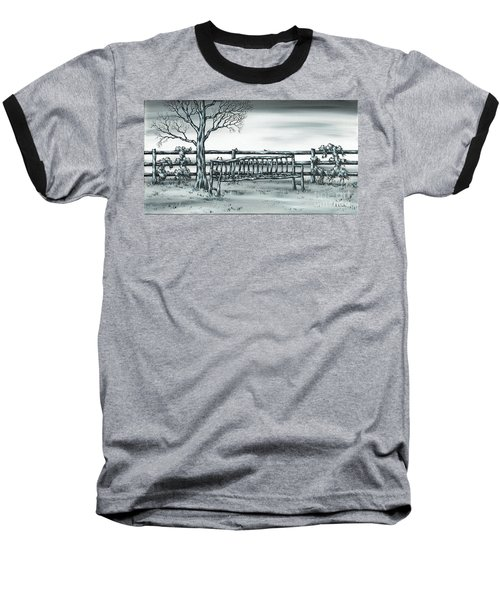 Baseball T-Shirt featuring the painting The Rematch by Kenneth Clarke
