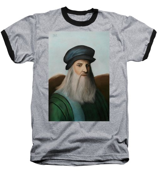 The Master Of Renaissance - Leonardo Da Vinci  Baseball T-Shirt by Vishvesh Tadsare