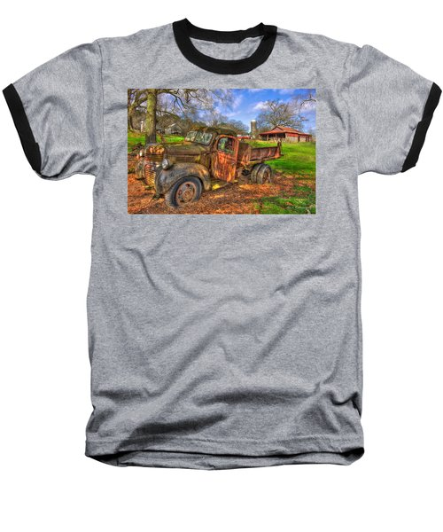 The Resting Place 2 Boswell Farm 1947 Dodge Dump Truck Baseball T-Shirt by Reid Callaway