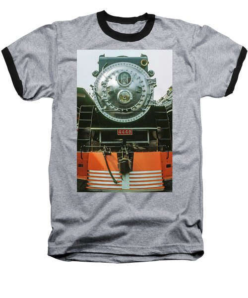 Baseball T-Shirt featuring the photograph The Restored Southen Pacific Daylight Locomotive No. 4449 by Frank DiMarco