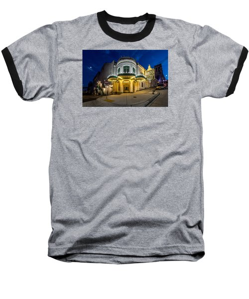 The Rialto Theater - Historic Landmark Baseball T-Shirt by Rob Green