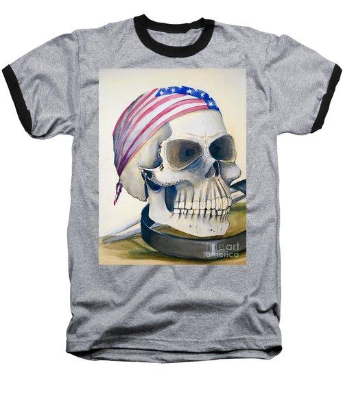 The Rider's Skull Baseball T-Shirt