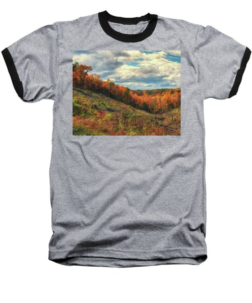 The Ridges Of Southern Ohio In Fall Baseball T-Shirt