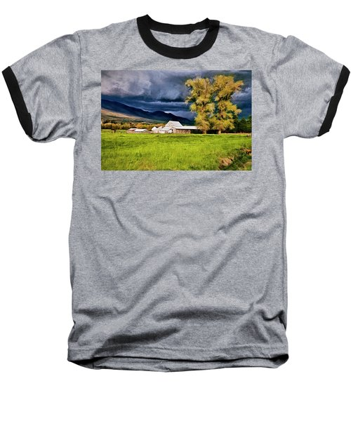 Baseball T-Shirt featuring the digital art The Right Place At The Right Time by James Steele