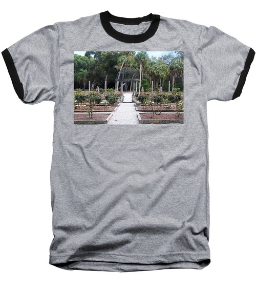 The Ringling Rose Garden Baseball T-Shirt