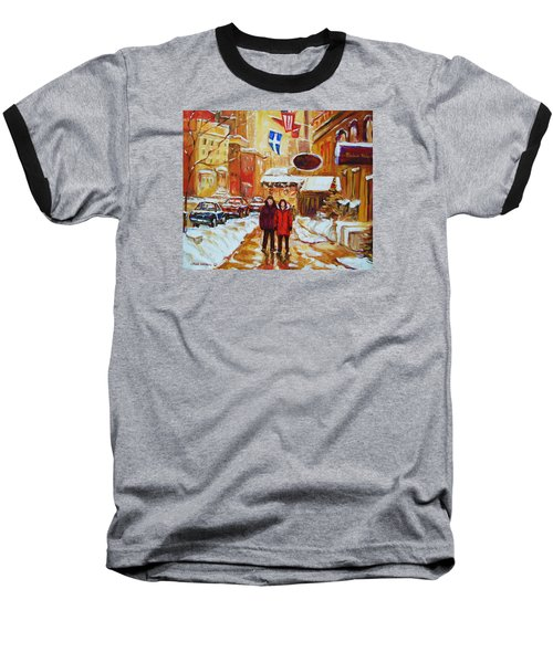 Baseball T-Shirt featuring the painting The Ritz Carlton by Carole Spandau