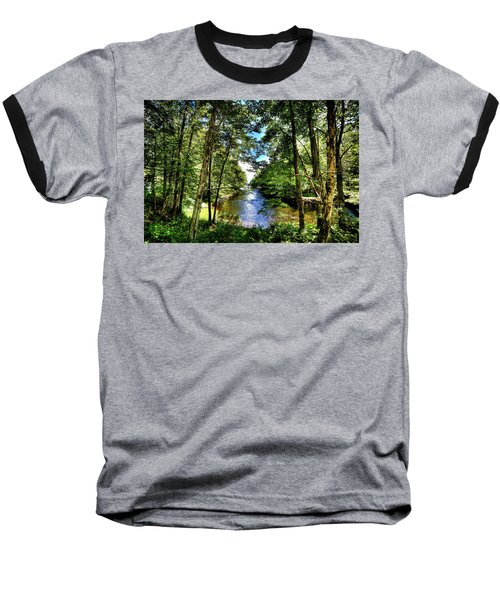 Baseball T-Shirt featuring the photograph The River At Covewood by David Patterson