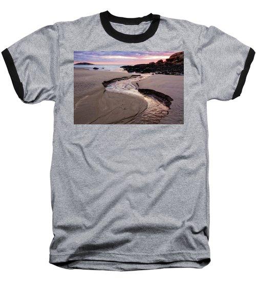 The River Good Harbor Beach Baseball T-Shirt by Michael Hubley