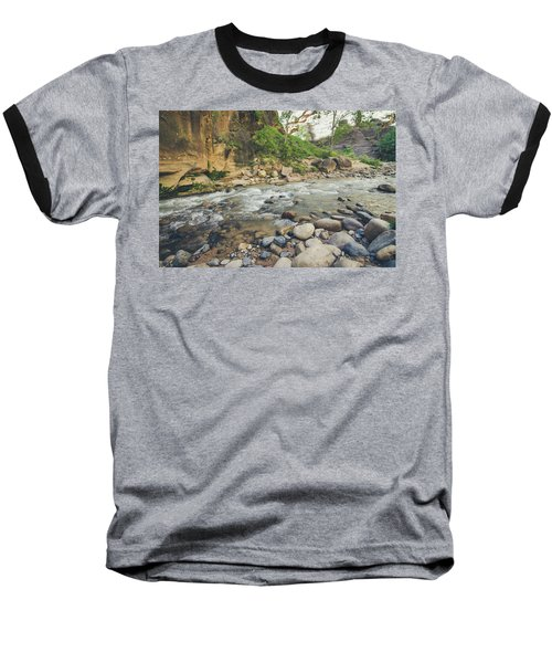 Baseball T-Shirt featuring the photograph The River Hike by Margaret Pitcher