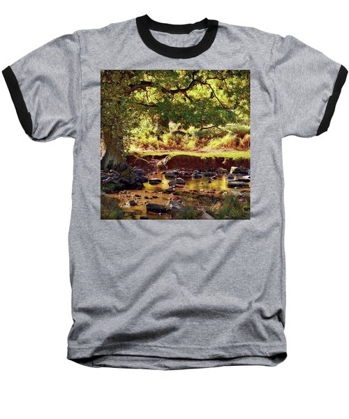 The River Lin , Bradgate Park Baseball T-Shirt by John Edwards