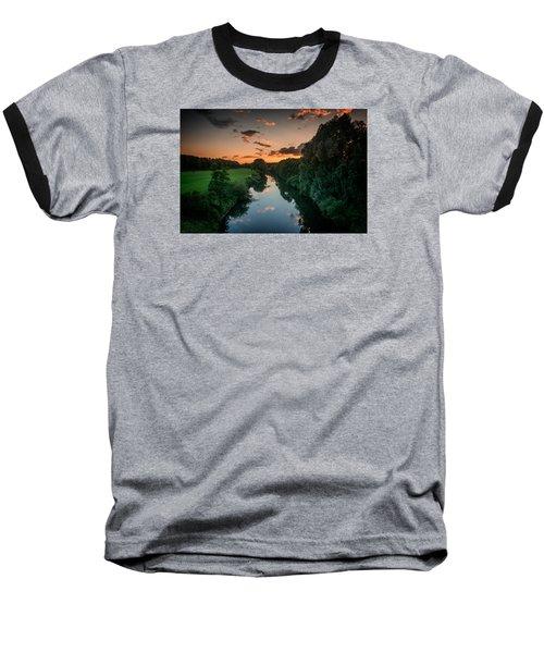 The River Lippe In Lower Rhine Region Baseball T-Shirt by Sabine Edrissi