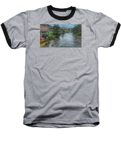 The River Nidd In Flood At Knaresborough Baseball T-Shirt by RKAB Works