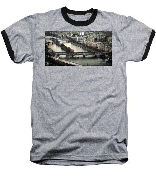 The River Seine - Paris Baseball T-Shirt