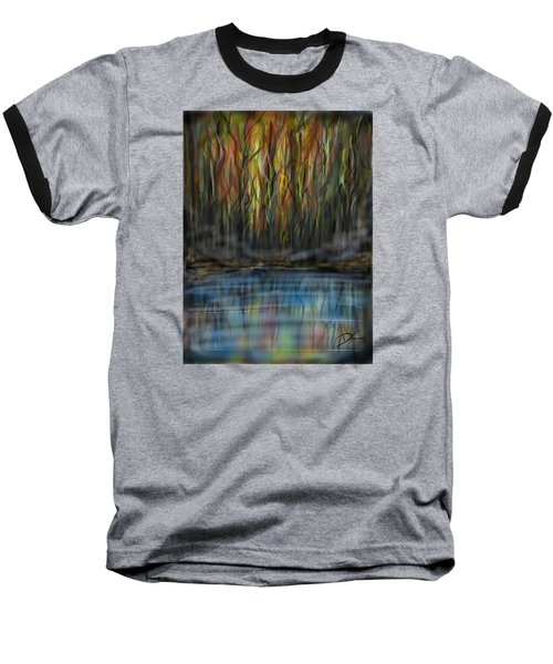 Baseball T-Shirt featuring the digital art The River Side by Darren Cannell