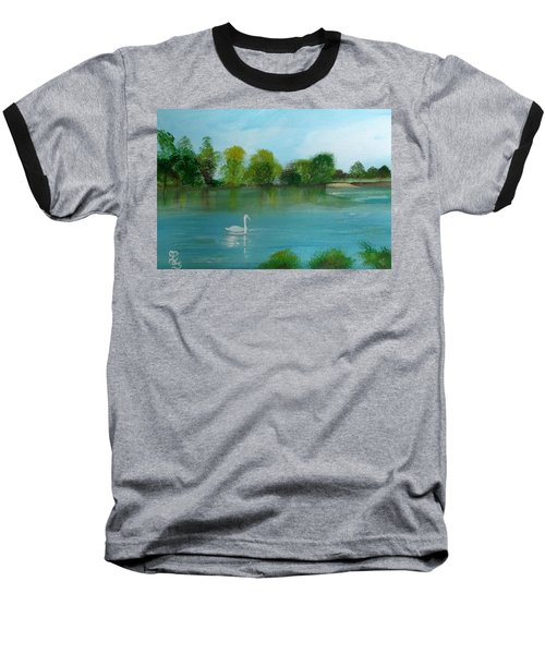 The River Thames At Shepperton Baseball T-Shirt by Carole Robins