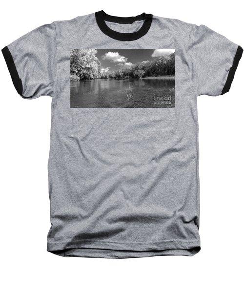 The Rivers Bend  Baseball T-Shirt by Scott D Van Osdol