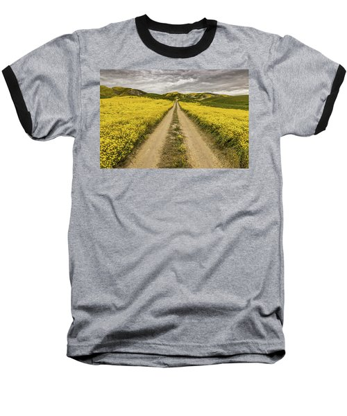 Baseball T-Shirt featuring the photograph The Road Less Pollenated by Peter Tellone