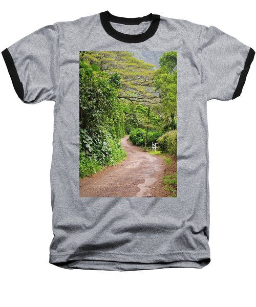 The Road Less Traveled-waipio Valley Hawaii Baseball T-Shirt