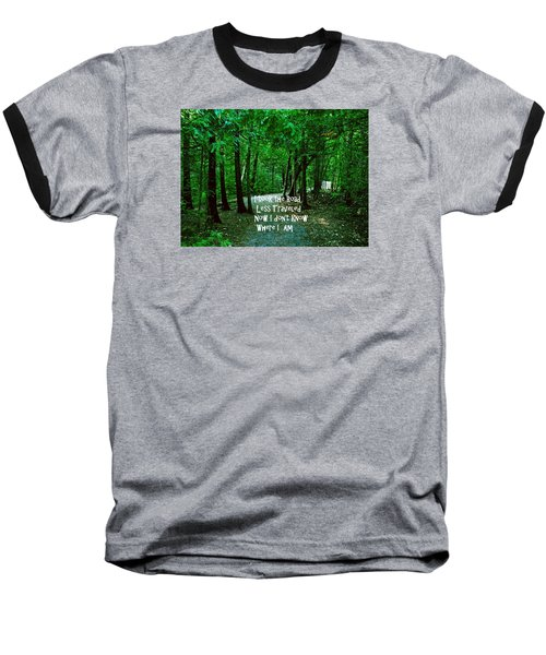 Baseball T-Shirt featuring the photograph The Road Less Traveled by Gary Wonning