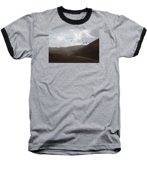 Baseball T-Shirt featuring the photograph The Road To The Snow Goddess by Ryan Manuel