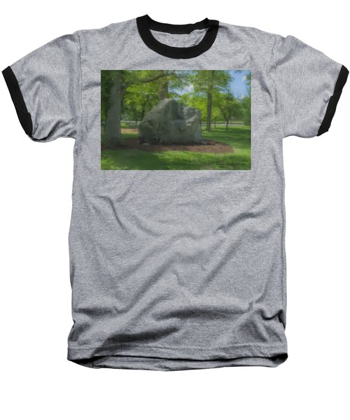 The Rock At Frothingham Park, Easton, Ma Baseball T-Shirt