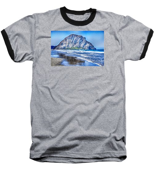The Rock At Morro Bay Large Canvas Art, Canvas Print, Large Art, Large Wall Decor, Home Decor, Photo Baseball T-Shirt